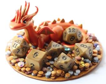 Treasure Dragon full set D&D Dice