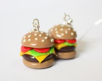 Healthy Burger Earrings