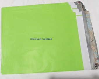 """20pcs 10"""" X 13"""" Neon Green Poly Mailers"""