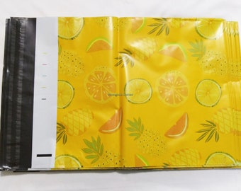 """20pcs 10"""" X 13"""" Pineapple Poly Mailers"""