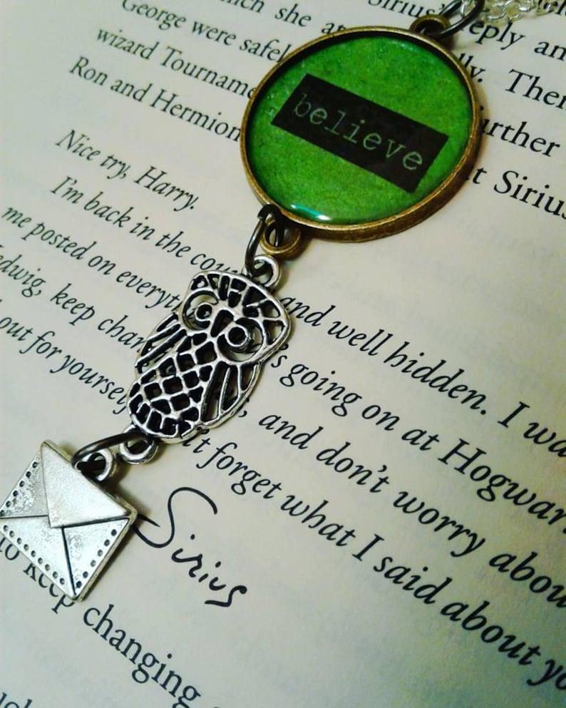 harry potter Owl Post Necklace with Hogwarts Acceptance Letter locket necklace