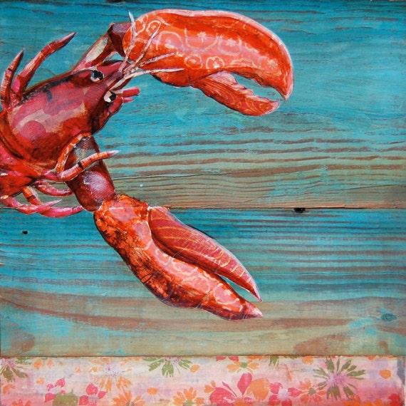 "Lobster in Maine - ""Lobster Blissque""- Fine Art Print , All Sizes"
