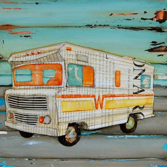 RV ART PRINT poster Breaking Bad Inspired travel winnebago rambler family vacation retirement gift birthday, All Sizes