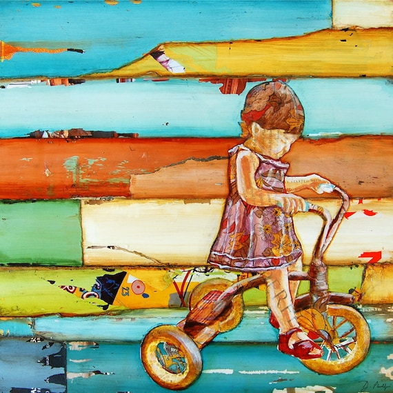 ART PRINT or CANVAS Nursery toddler toy tricycle retro baby shower gift wall home decor poster painting print inspirational, All Sizes