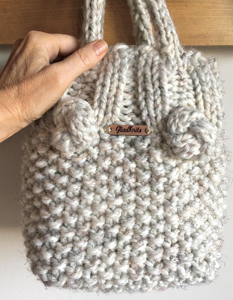 Chunky Mini Tote Purse Knit image 0
