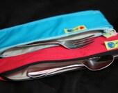 Zipper Utensil bag Lunchbox reusable storage pouch