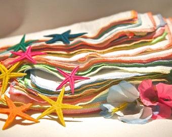 38 Tropical Sunset Reusable Napkins Everday UnPaper towels Birdseye cotton