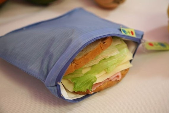 11806302a844 ZIp Insulated Sandwich bag ReUsable Eco friendly pIck your color