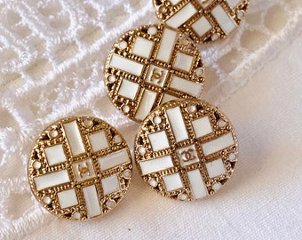 Gold tone buttons