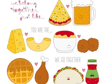 Just Like... 4 Digital Clipart Clip Art Illustrations - instant download - limited commercial use ok