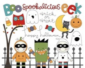 Spookalicious Digital Clipart Clip Art Illustrations - instant download - limited commercial use ok