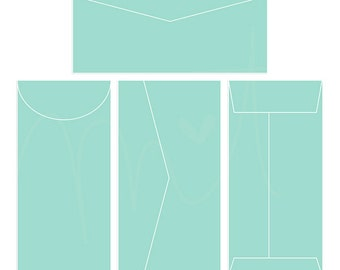 Envelopes 4 Digital Templates - instant download - limited commercial use ok