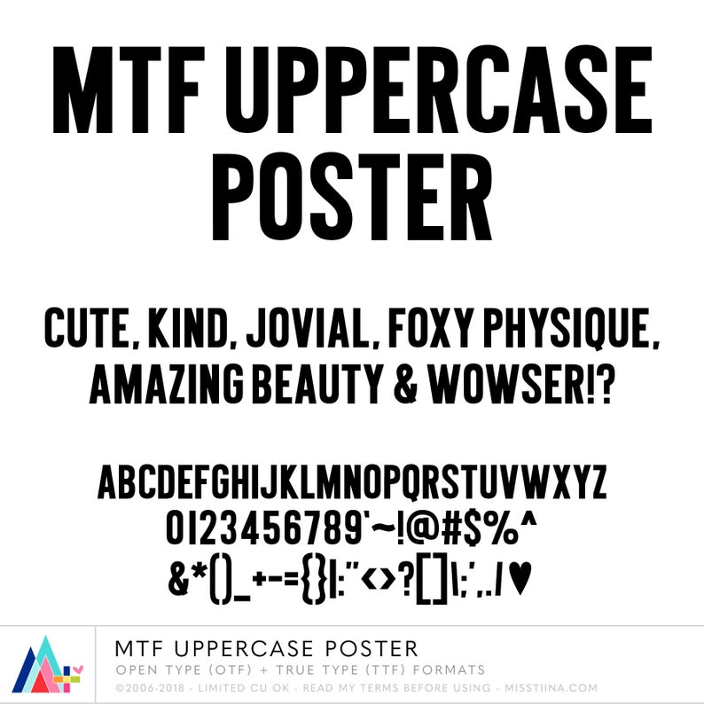 MTF Uppercase Poster Font  Open Type OTF  TTF True Type image 0