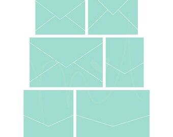 Envelopes 3 Digital Templates - instant download - limited commercial use ok