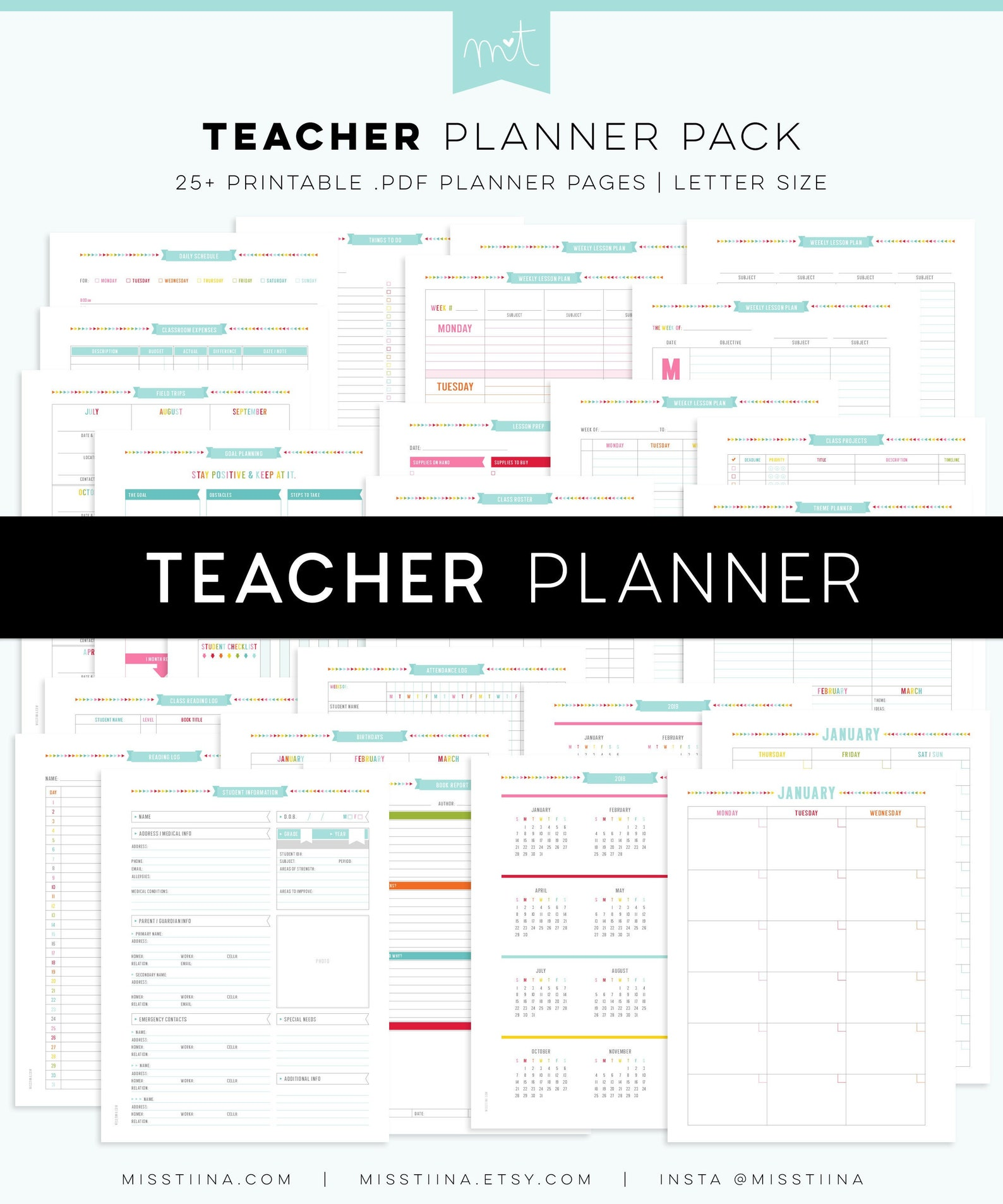 Teacher Planner - Editable PDF
