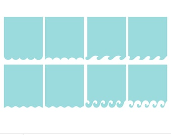 Banners 3 - Summer Waves in the Water SVG DXF Digital Die Cut Files for cutting machines, card making, scrapbooking - limited commercial use