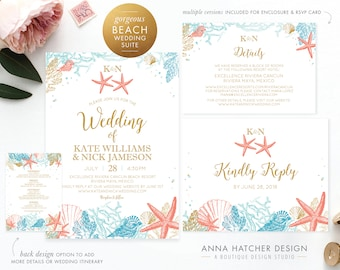 beach invitation etsy