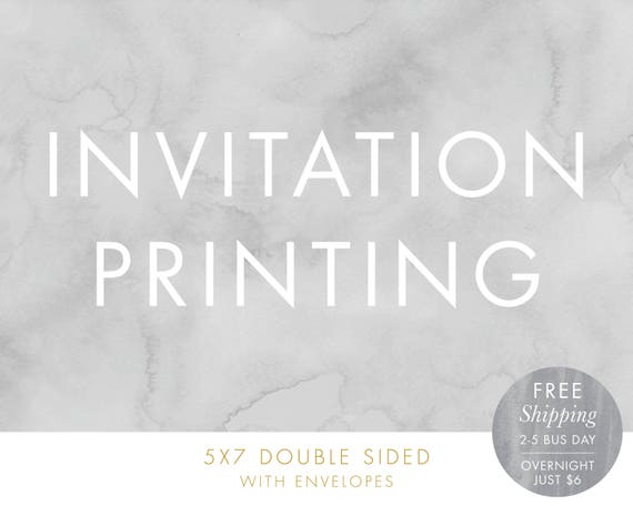 invitation printing free shipping 5x7 double sided printed etsy