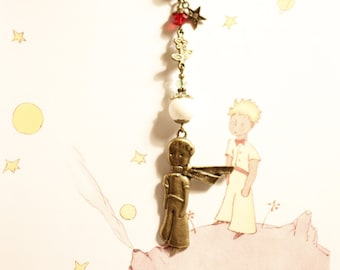 The Prince inspired bookmark, France, Le Prince, Der Prinz, glass beads, beaded metal bookmark, bronze, birthday gift, הנסיך