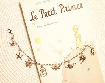 The Prince inspired charm bracelet, Le Prince, The Prince, Der Prinz, הנסיך , charm bracelet, Tibetan silver, fan jewellery