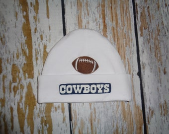 Dallas Cowboys Baby Hat Made from Cowboy Fabric 0c624acb4