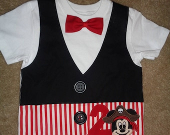Pirate Themed Vest Shirt Pirate Birthday