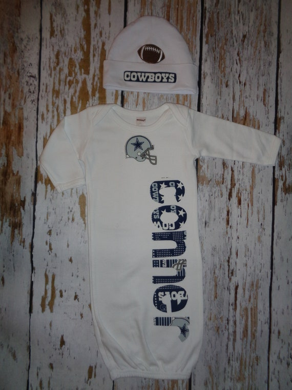 Dallas Cowboys Personalized Baby Romper and Hat Set Cowboys  8479872cc
