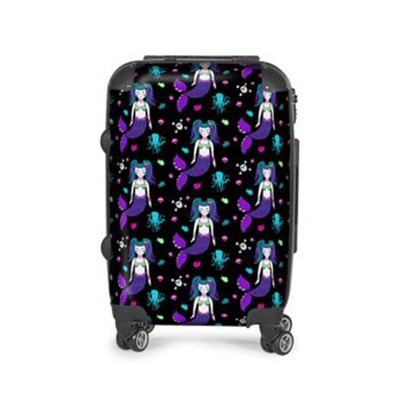 Portable Luggage Duffel Bag Mermaid Travel Bags Carry-on In Trolley Handle
