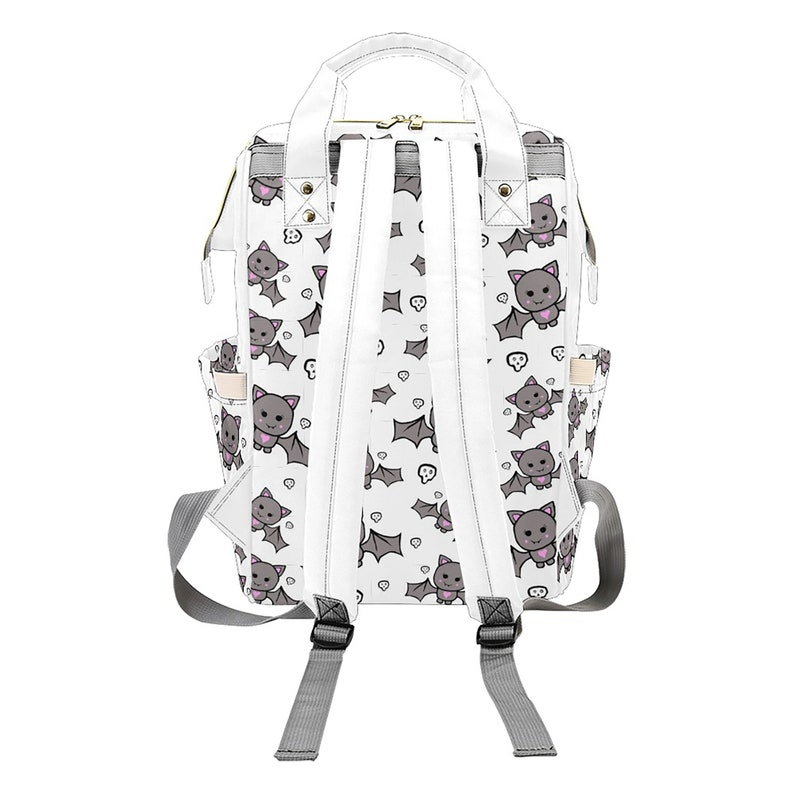 Baby Diaper Nappy Changing Backpack Bag White Cute Bat White