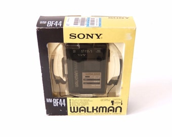 Sony Walkman WM-BF44 portable cassette player with original box and headset.