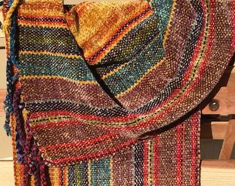 Handwoven Scarf-Multi-color Chenille