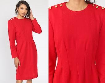 High Slit Mandarin Collar Dress Pink Secretary Shirtdress 80s Halston Mini Dress