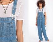 Gap Overalls 90s Denim Jeans Bib Overalls Grunge Pants Long Jean Blue Baggy Suspender Pocket Hipster Vintage Dungarees Small Medium