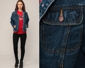 90s Denim Jacket Bill Blass Jacket Vintage Jean Jacket Grunge Biker Button Up Trucker Biker 1990s Hipster Classic Oversized Small Medium