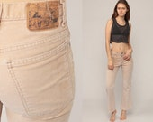 Corduroy Pants 70s Bell Bottoms Hippie Trousers High Waisted Trousers Boho Pants Flared Tan Sand 80s Vintage Bohemian Small 26 2
