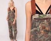 Camo Overalls Pants Hunting Pants Bib Camouflage Overalls Walls Army Pants Realtree Grunge Dungarees Streetwear Vintage Medium Large