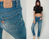 Levis Student Jeans 70s Jeans Blue Levi Strauss Jeans RIPPED Jeans Straight Leg Jeans Distressed 80s Boyfriend Vintage Small 6 28