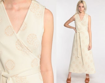 VIntage 70s Geometric Feminine Dress Made in Denmark Size Small to Medium