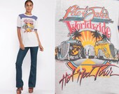 Hot Rods Shirt 80s Car Tshirt Pete & Jake's Street Rod Club Shirt Ringer Tee Classic Cars Tee 1980s Rockabilly T Shirt Extra Small xs