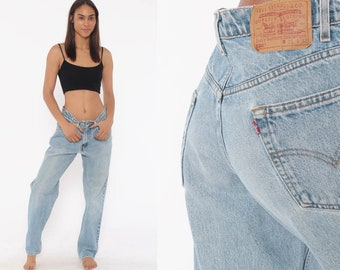 a05300f2501 Levis 550 Jeans 30 x 31 -- Mom Jeans High Waist Levi Jeans 80s Jeans Denim  Pants Straight Leg Vintage 90s Blue Denim Levi Strauss Medium