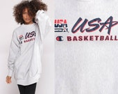USA Basketball Shirt Champion Sweatshirt Olympic Dream Team Crewneck Pullover Sports Jumper 90s Streetwear Slouch Vintage Extra Large 2xl
