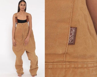 bec6d30ea8 80s INSULATED Overalls Walls Blizzard Pruf Coveralls Workwear Grunge Baggy  Tan Pants Work Wear Long Cargo Vintage Dungarees Extra Large xl