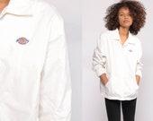 Dickies Jacket White Jacket Vintage Workwear Retro Hipster Work Wear Large