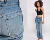 70s Bell Bottoms Jeans Denim Hippie Jeans Flared Denim Pants High Waisted Boho High Rise 1970s Vintage Hipster Blue Jean Extra Small xs 00