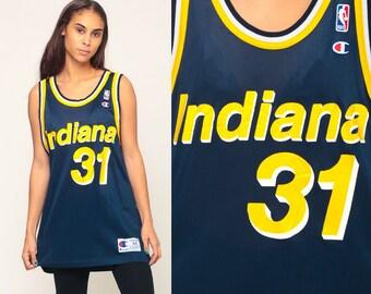 Reggie Miller Jersey INDIANA PACERS Shirt Basketball Jersey 31 Throwback Nba  90s Champion Retro Sports Vintage Medium Large 796b2ca07