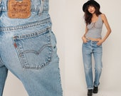 Levis Jeans Bootcut Jeans 80s Jeans Blue High Waisted Straight Leg 517 Boyfriend Hippie Hipster Vintage Large 12 32