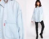 Levis Denim Shirt Button Up Shirt Jean Shirt 90s Blue Grunge Hipster Long Sleeve Cotton Oversized Button Down Extra Large xl
