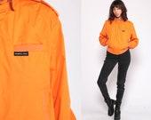 Members Only Jacket Orange jacket 80s Bomber Windbreaker Cafe Racer Moto Hipster Epaulette Coat Vintage 1980s Lightweight Small