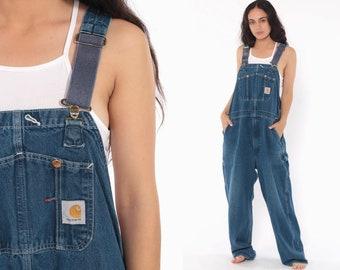 c9615582f4 Carhartt Overalls Bib Jean Overalls Denim Pants Dungarees GRUNGE Suspender  Blue Pants Baggy Long Vintage Coveralls Extra Large xl