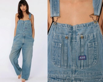 c1387b4731 Jean Overalls 90s Denim GRUNGE Pants Lee Baggy 1990s Dungarees Bib BIG  SMITH Distressed Boyfriend Hipster Vintage Carpenter Medium